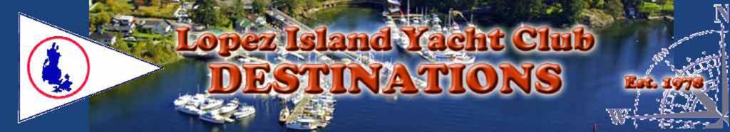 Lopez Island Yacht Club Destinations